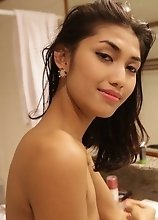 Beautiful feminine Thai Ladyboy enjoys hard ass fucking