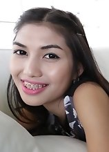 20 year old petite Thai ladyboy loves teasing and blowing tourists cocks