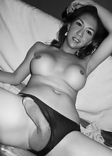Beautiful TS Sapphire Young in Sensual Black And White Pictures