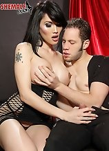 In this hot hardcore scene with Wolf you can see just how much Eva Lin loves a good fuck!