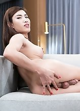 Ladyboy Allison Intense Orgasm Anal Masturbation