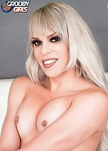 Bree Bella can't wait to start stroking her rock hard cock! Watch her playing with it until she cums!